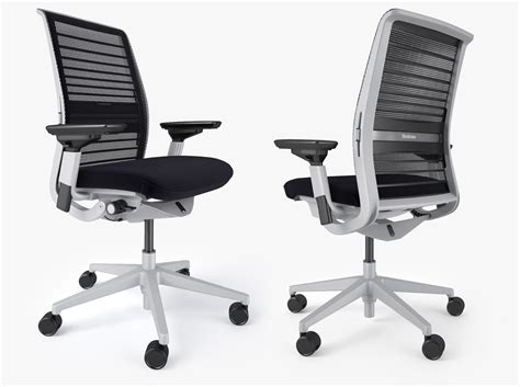 steelcase bureau steelcase think office chair 3d model max obj fbx mtl