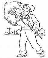Farmer Coloring Sheet Overalls Preschool Farmers Template Templates Sketch sketch template