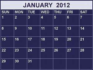 Free Printable Calendar 2018: January 2012