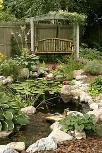 Jardin Avec Bassin : 1000 images about garden ponds fountains on pinterest ~ Melissatoandfro.com Idées de Décoration