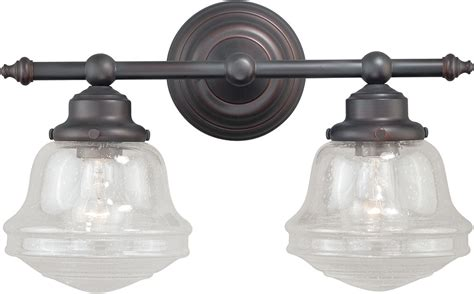 vaxcel w0189 huntley rubbed bronze 2 light bath light