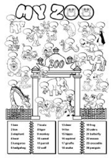 english worksheets zoo animals worksheets