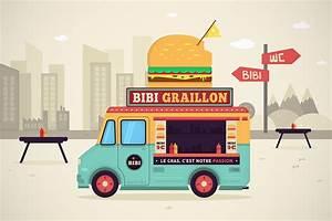 Food Truck - Vector Illustration & Motion Design on Behance