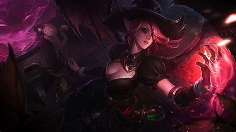bewitching morgana league  legends wallpapers art  lol