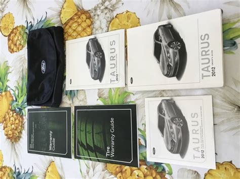 ford taurus owners guide manual packet ford case