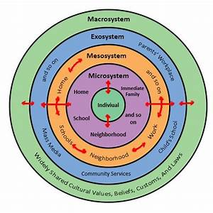A Simple Diagram To Explain The Relationship Between The Microsystem  Mesosystem  Exosystem And