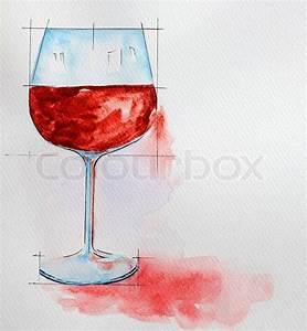 Malen Mit Wasserfarben : weinglas malen mit wasserfarben stockfoto colourbox ~ Orissabook.com Haus und Dekorationen