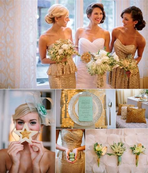 Rose Gold Silver and Gold Wedding Theme OOSILE