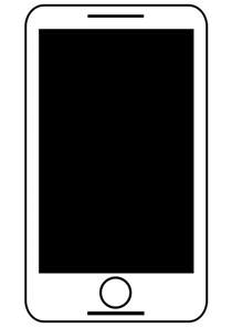 black phone number clipart smartphone tablet black and white free clipart