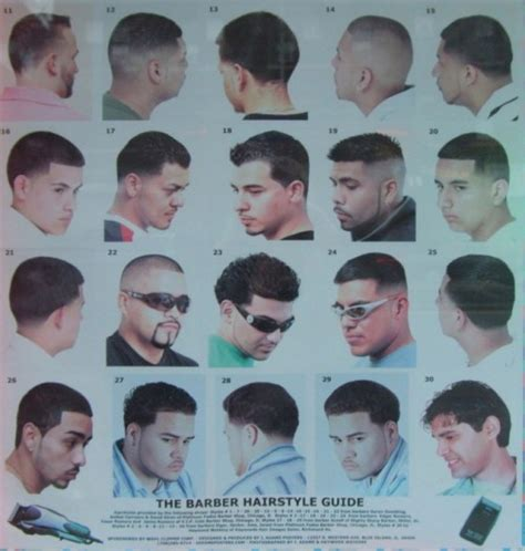 barber haircut chart the barber hairstyle guide hairstylegalleries