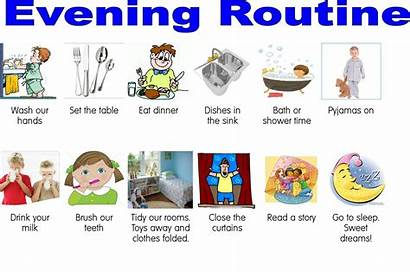 Routine Morning Evening Routines Chart Daily Schedule