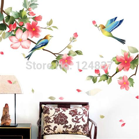 flower decals for bedroom 100 180cm flower wall sticker home decor tree stickers