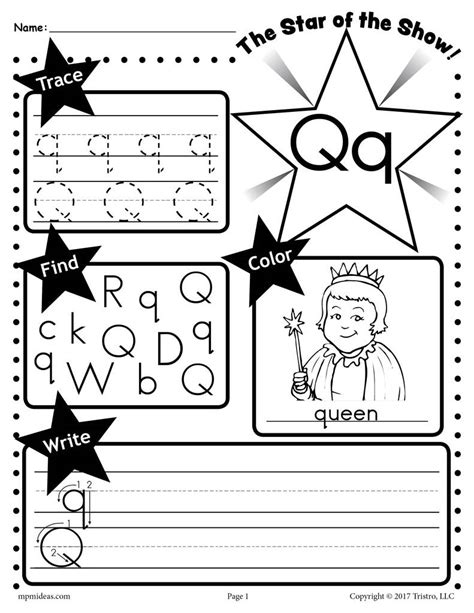 Letter Q Worksheet: Tracing, Coloring, Writing & More ...