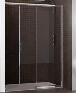 porte coulissante macao sans seuil 125 142cm partie fixe With porte de douche coulissante avec colle silicone salle de bain
