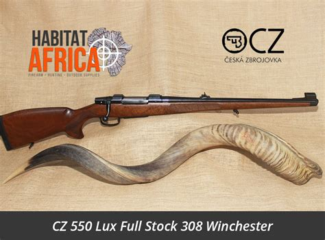 cz  lux full stock  winchester rifle habitat africa cz rifles