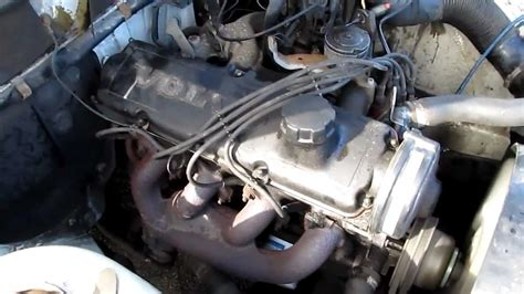 volvo  dl  engine running idle  adjusting