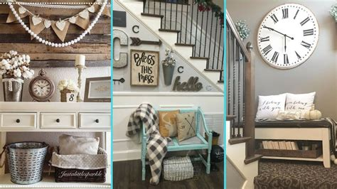 diy shabby chic style small entrance decor ideas home