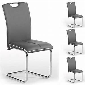 lot de 4 chaises de salle a manger eleonora pietement With idee deco cuisine avec chaise salle a manger simili cuir