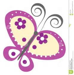Purple Cartoon Butterflies