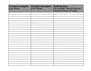 Chemical Inventory List Template