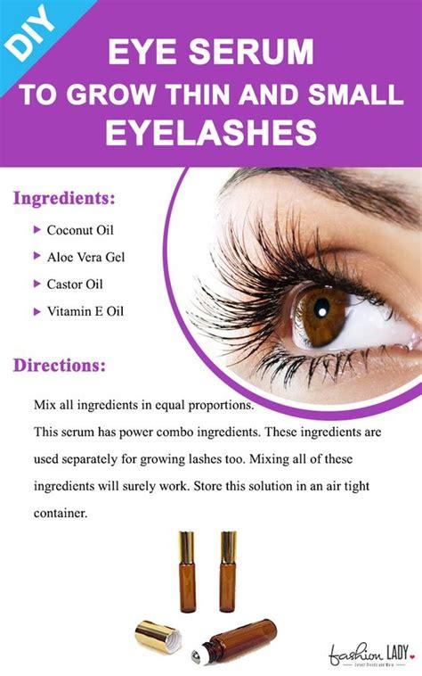 diy eye serum  grow thin  small eyelashes