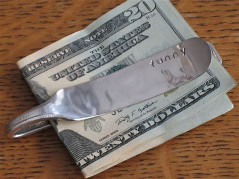 money clip knife flatware upcycled silverplate clips silverware lv silver jewelry