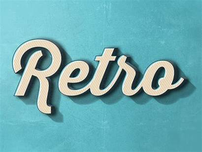 Retro Text Effect Psd Photoshop Effects Graphicburger