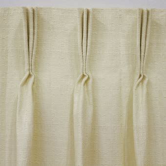 Hanging Pinch Pleat Drapes - canton and canton lined ivory cotton pinch pleat