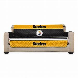 Nfl pittsburgh steelers sofa cover bed bath beyond for Nfl furniture covers