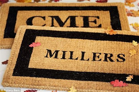 custom made doormats let s get personal femail brings you the best customized