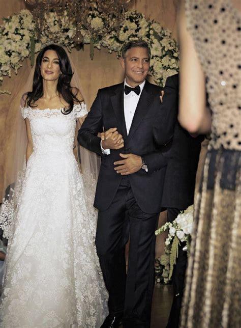 amal clooneys wedding dress     exhibit