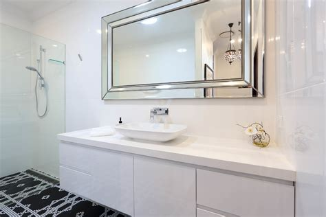 Elegant Frameless Mirror In Bedroom Contemporary With