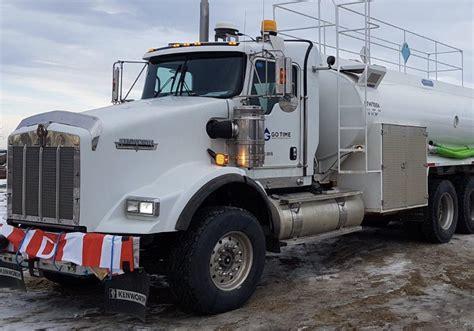 time oilfield water truck rentals  alberta