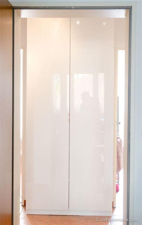 Ikea Pax Schrank Tiefe Ikea Pax Schrank Mit Fardal Türen In Hochglanz Weiß Für