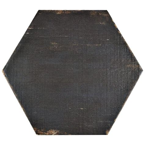 home depot merola hex tile merola tile retro hex negre 14 1 8 in x 16 1 4 in