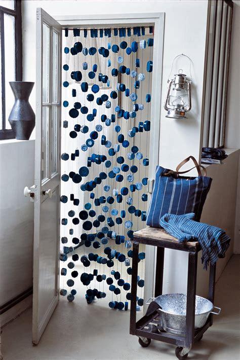 rideau de porte fantaisie un rideau de rubans bleus