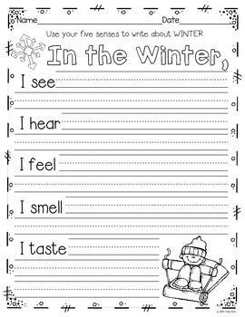 writing activities   december january february