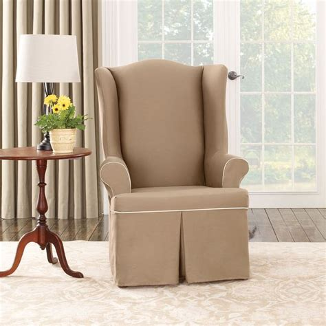 Sure Fit Wing Chair Slipcovers by Sure Fit Wing Chair Slipcover Home Furniture Design