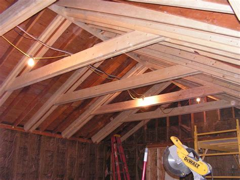 Ceiling Attic by Opening Up The Attic To Increase Ceiling Height And Sense