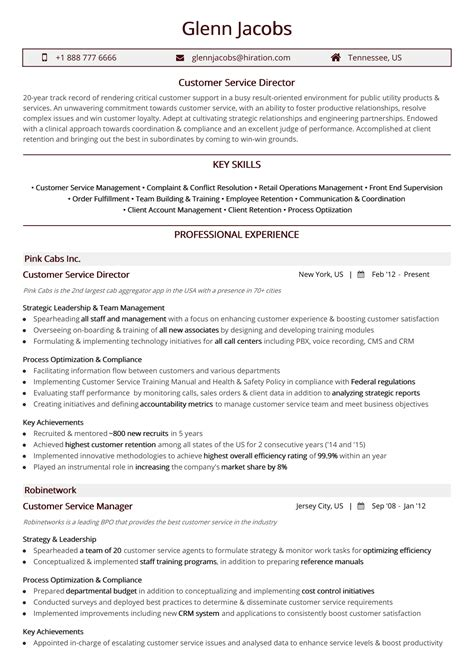 Sle Of Resume For Customer Service by Customer Service Resume Exles And Sles