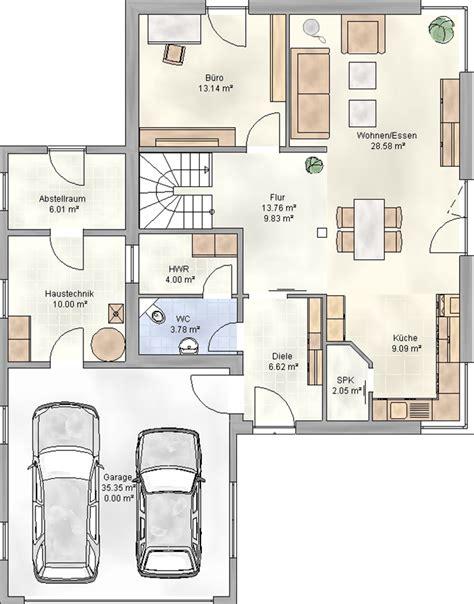 Haus Mit Doppelgarage by Grundrisse Einfamilienhaus Mit Doppelgarage Haus Mit