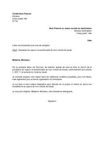 modèle lettre rupture contrat assistance maternelle pour scolarisation letter of application modele lettre rupture contrat de