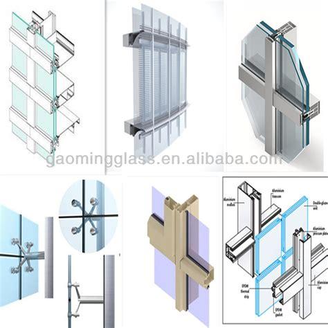 hidden aluminum frame glass curtain wall construction company  buy glass curtain wall