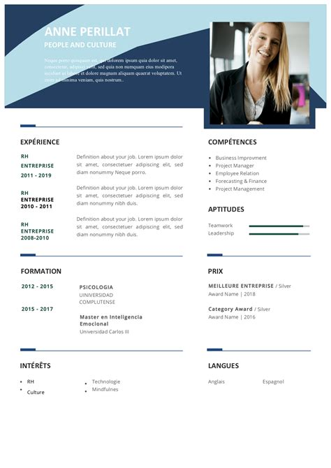 Modele Pour Cv by Mod 232 Les De Cv Gratuits Au Format Word Modeles Cv Fr