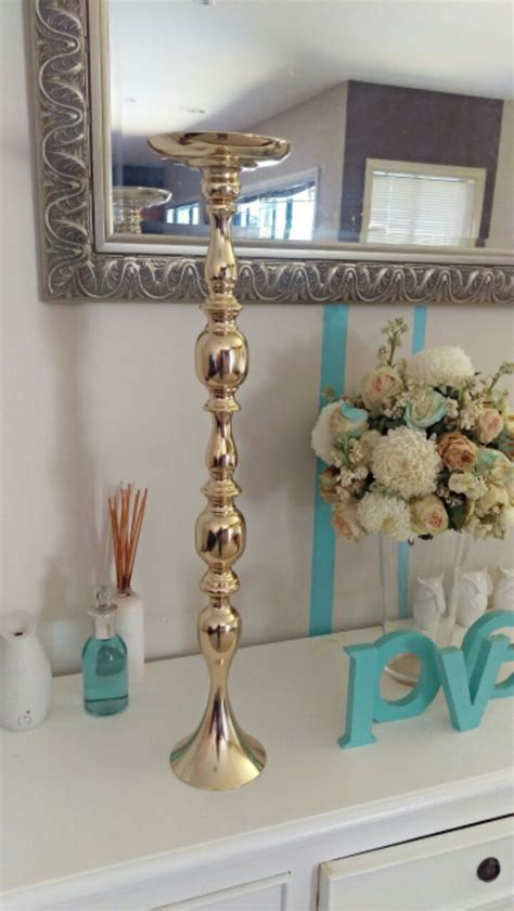 cm tall gold flower stand