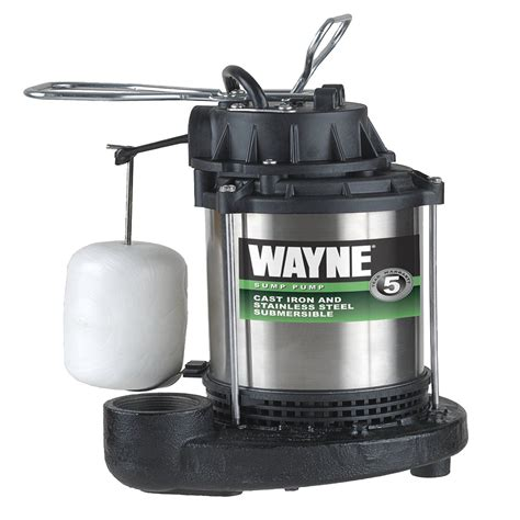 sump pump wayne switch hp float submersible cdu980e integrated iron cast stainless steel vertical