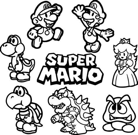 All Super Mario Coloring Page Wecoloringpagecom