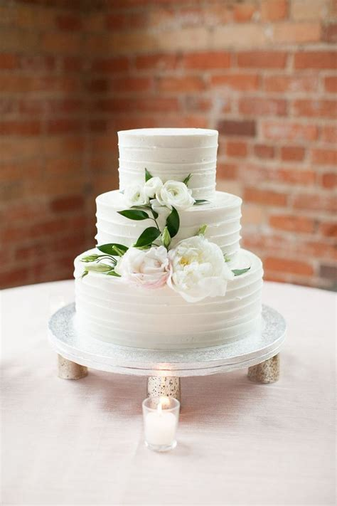 3 Tier Wedding Cake With Best Day Ever Silver Cake Topper