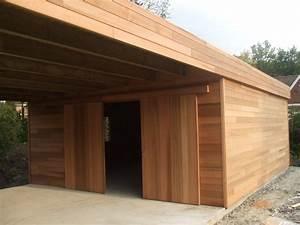 Garage En Bois Toit Plat : abri de jardin en bois avec terrasse abt inspirations et ~ Dailycaller-alerts.com Idées de Décoration