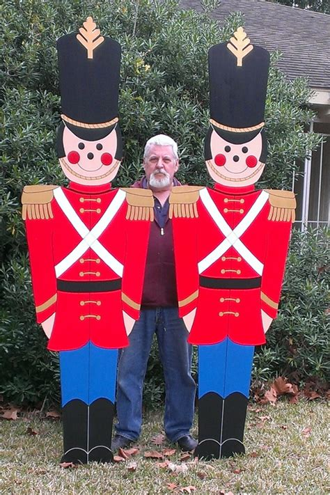 christmas soldier steps to drawyard sign soldiers yard decorations yard custom made to order by de yard houston tx